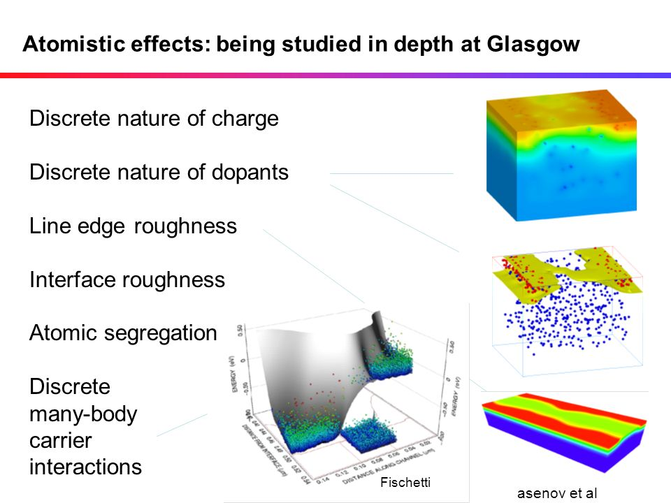 Atomistic effects: being studied in depth at Glasgow