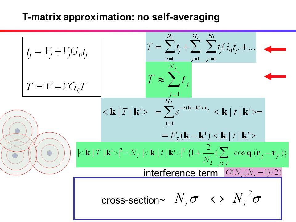 T-matrix approximation: no self-averaging