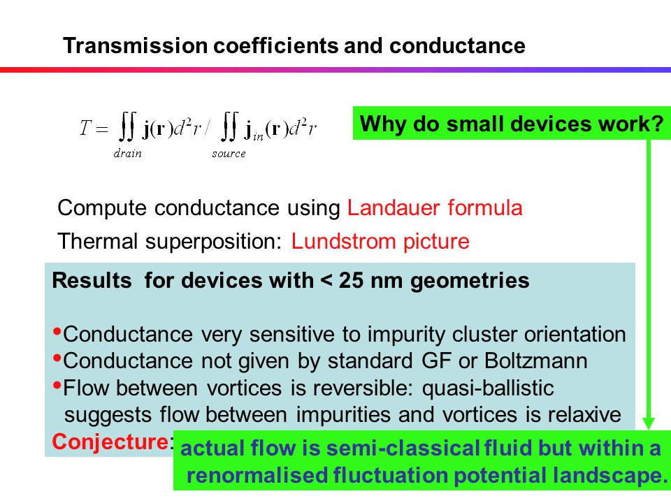 Transmission coefficients and conductance