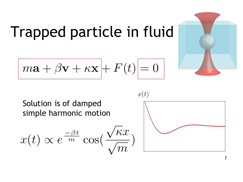 Trapped particle in fluid