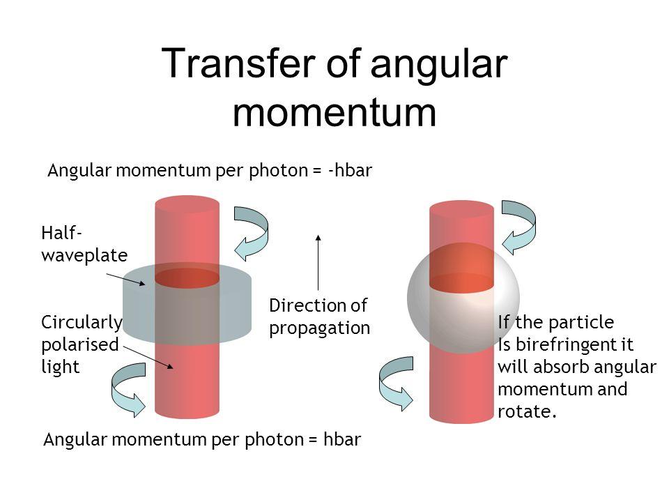 Transfer of angular momentum