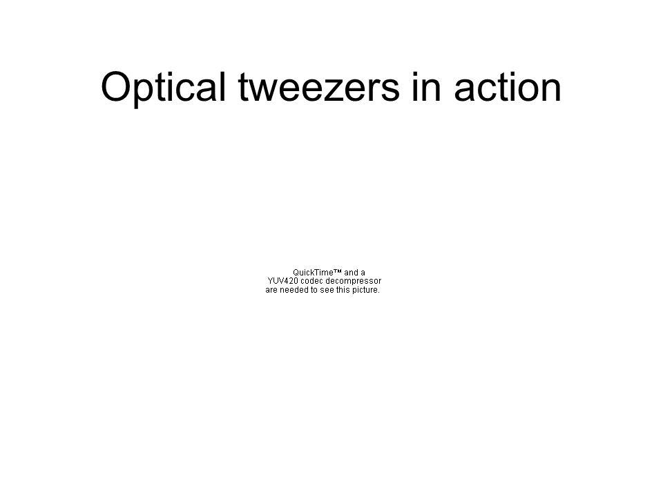 Optical tweezers in action