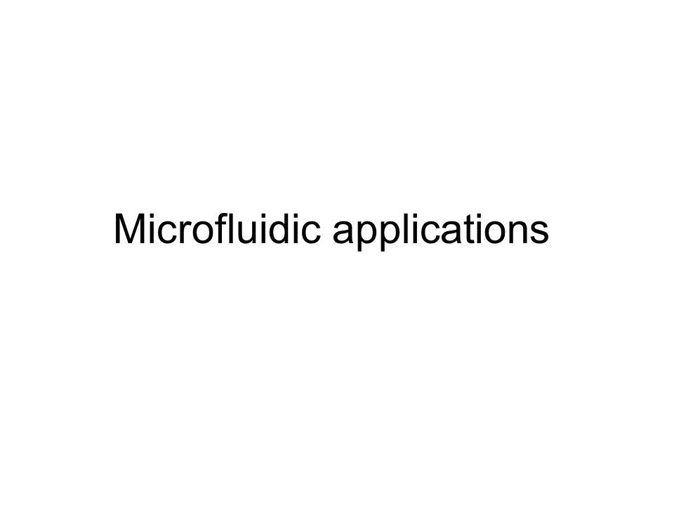 Microfluidic applications