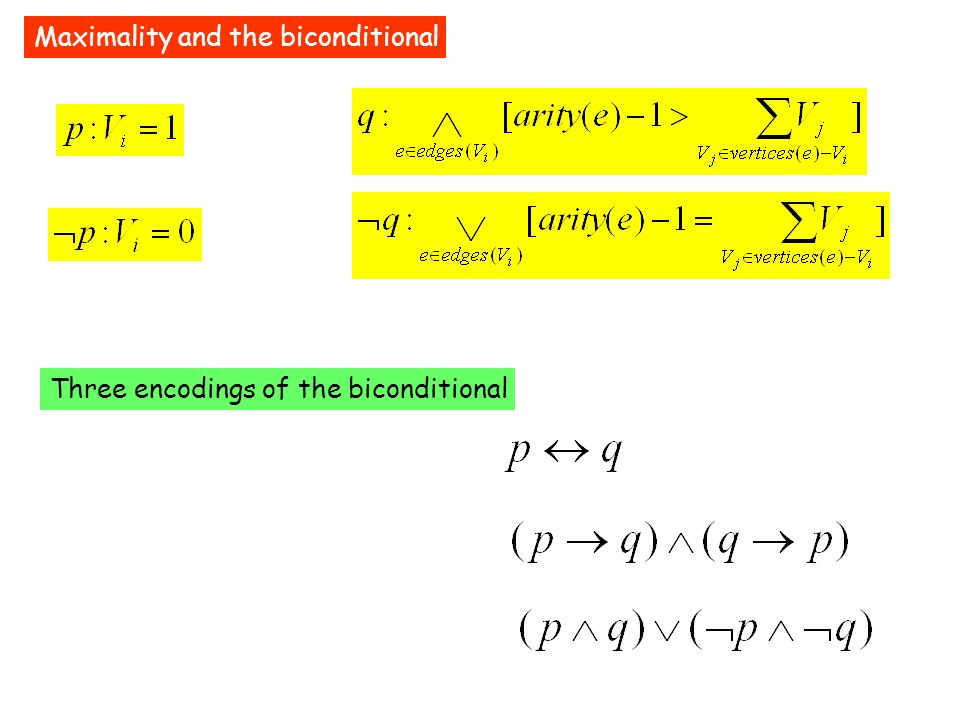Maximality and the biconditional