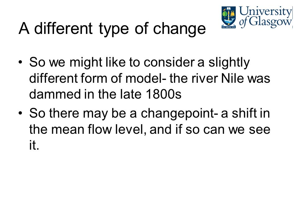A different type of change