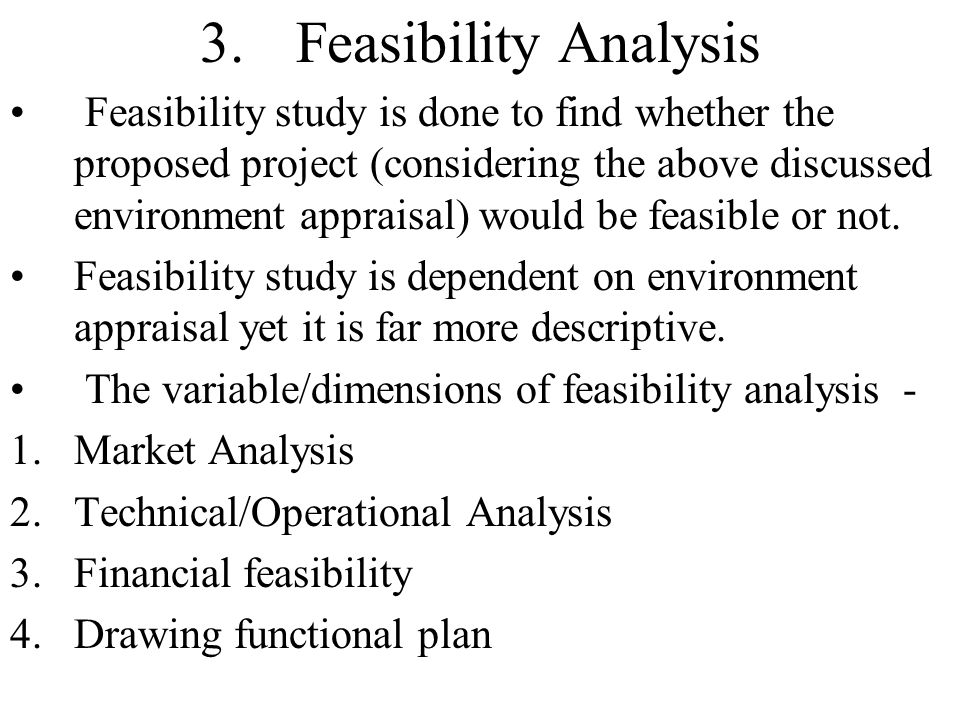entrepreneurship project business feasibility analysis Baep 566: cases in feasibility analysis study of analytical techniques used to evaluate business concepts and new business development baep 567: social entrepreneurship: design, develop, and deliver develop the analytical, conceptual, and practical skills required to design, develop, and deliver a new social business concept and opportunity.
