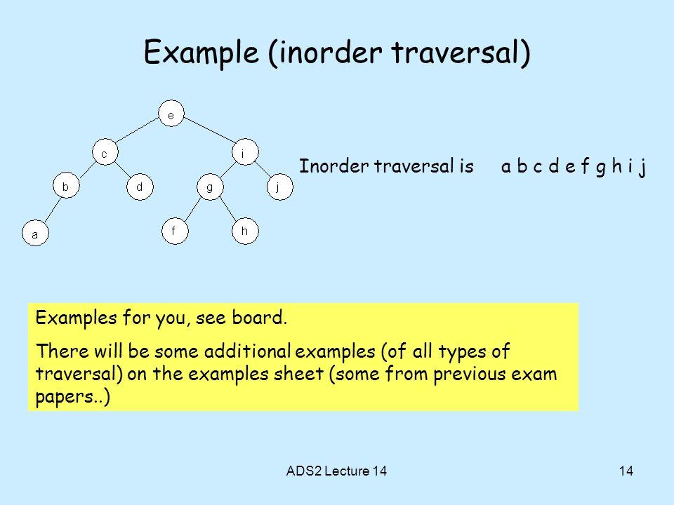 Example (inorder traversal)