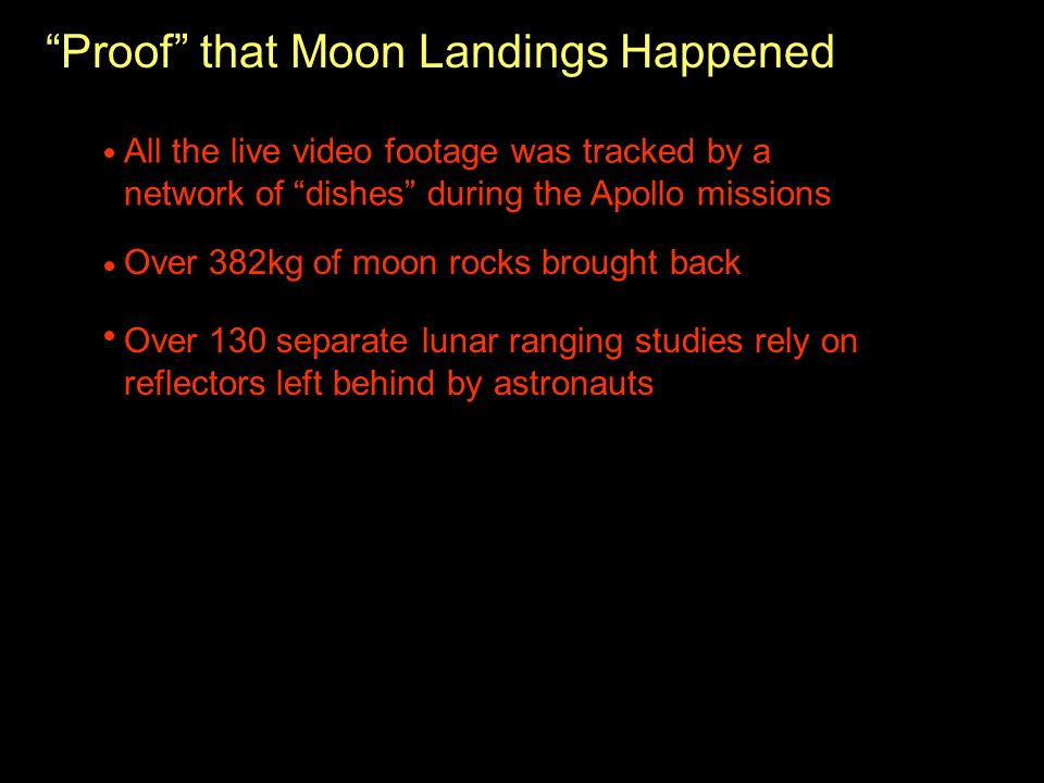 Proof that Moon Landings Happened