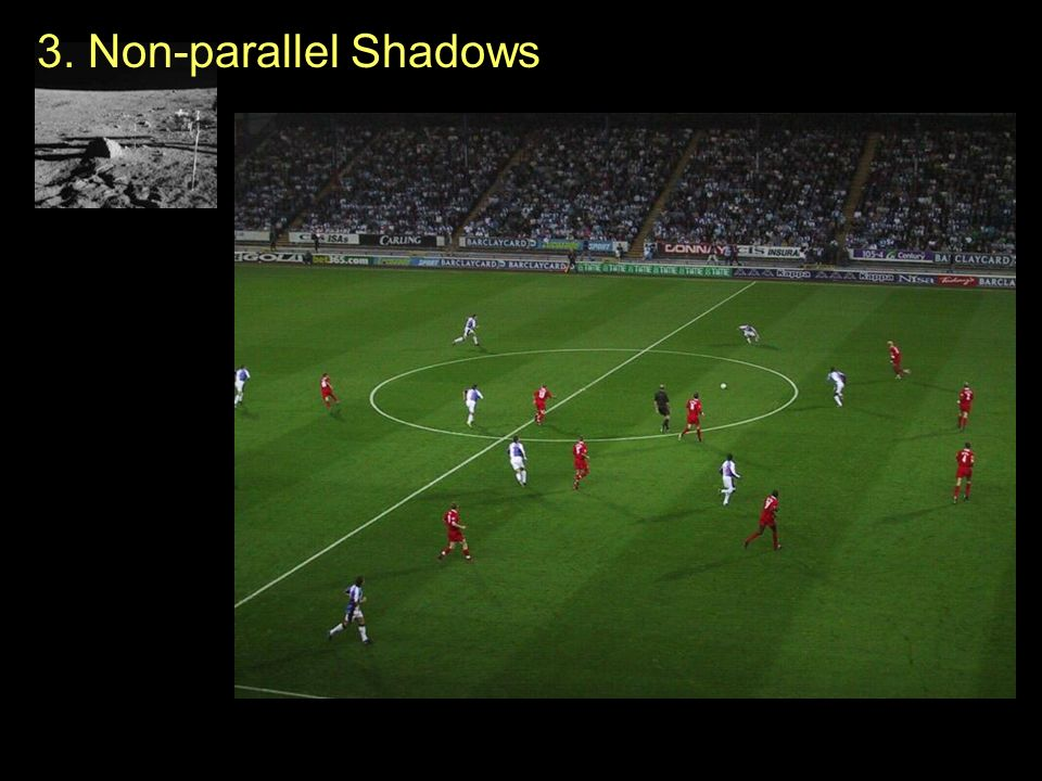 3. Non-parallel Shadows