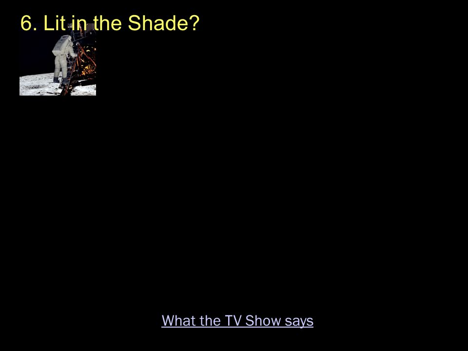 6. Lit in the Shade What the TV Show says