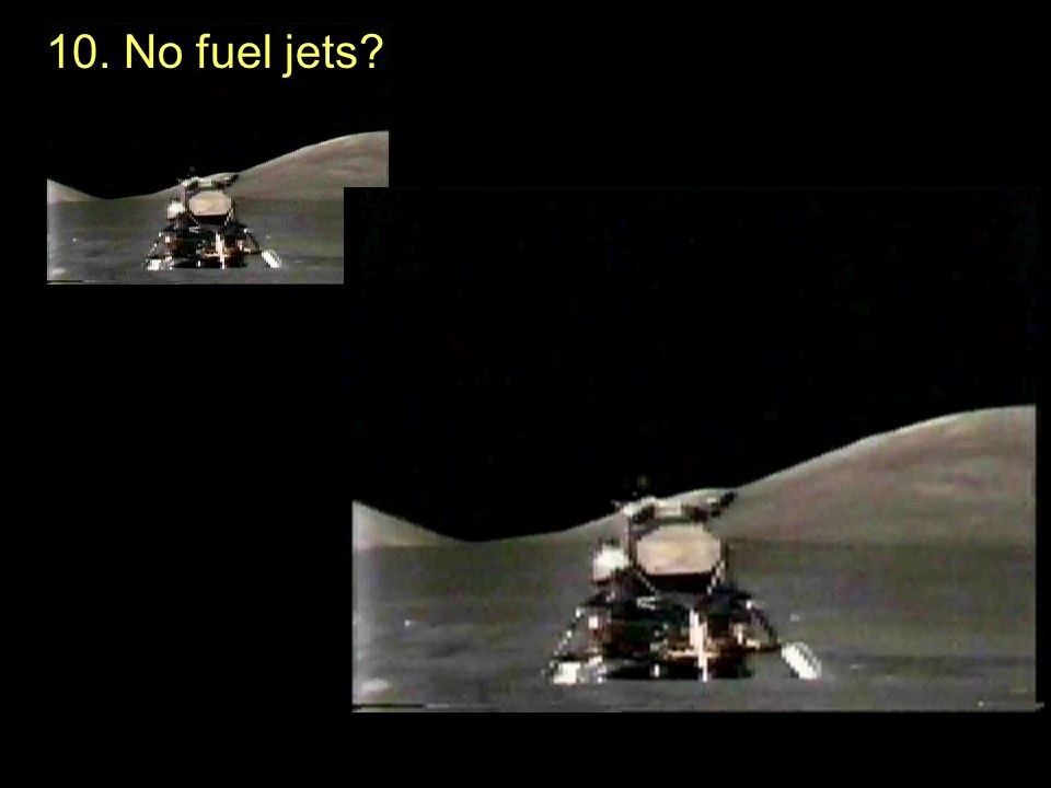 10. No fuel jets