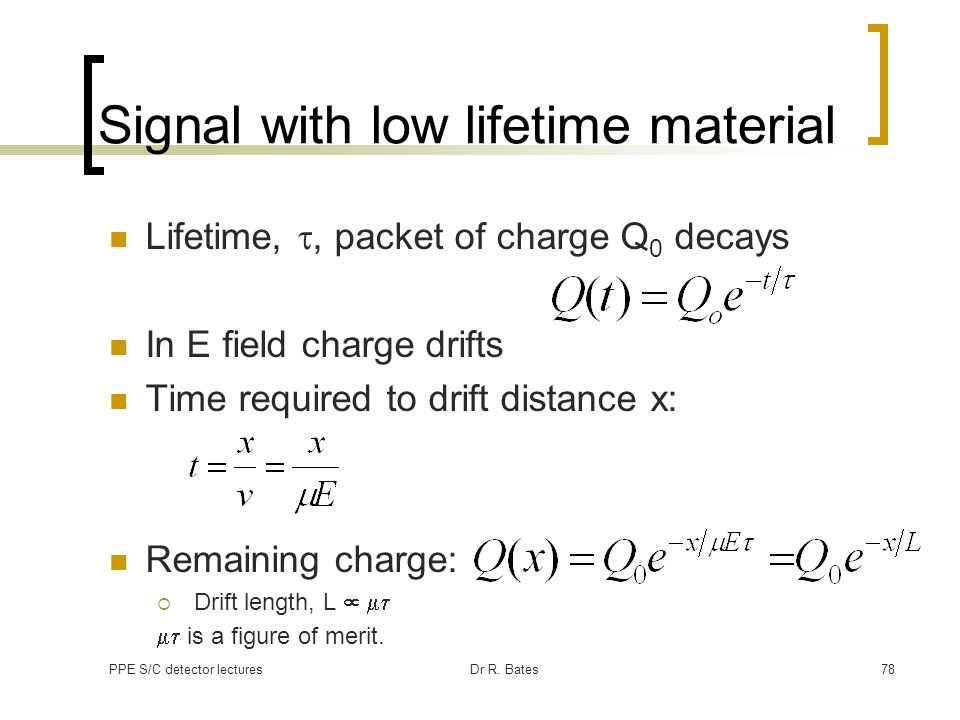 Signal with low lifetime material