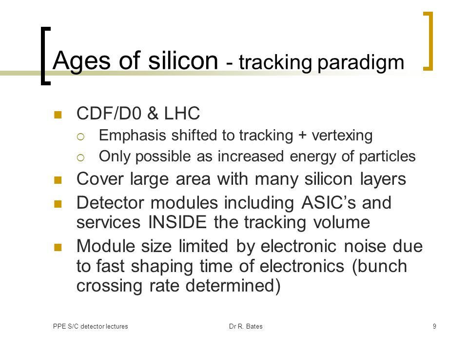 Ages of silicon - tracking paradigm