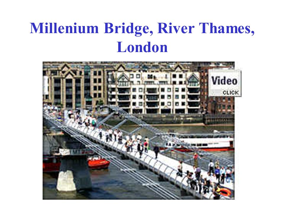 Millenium Bridge, River Thames, London
