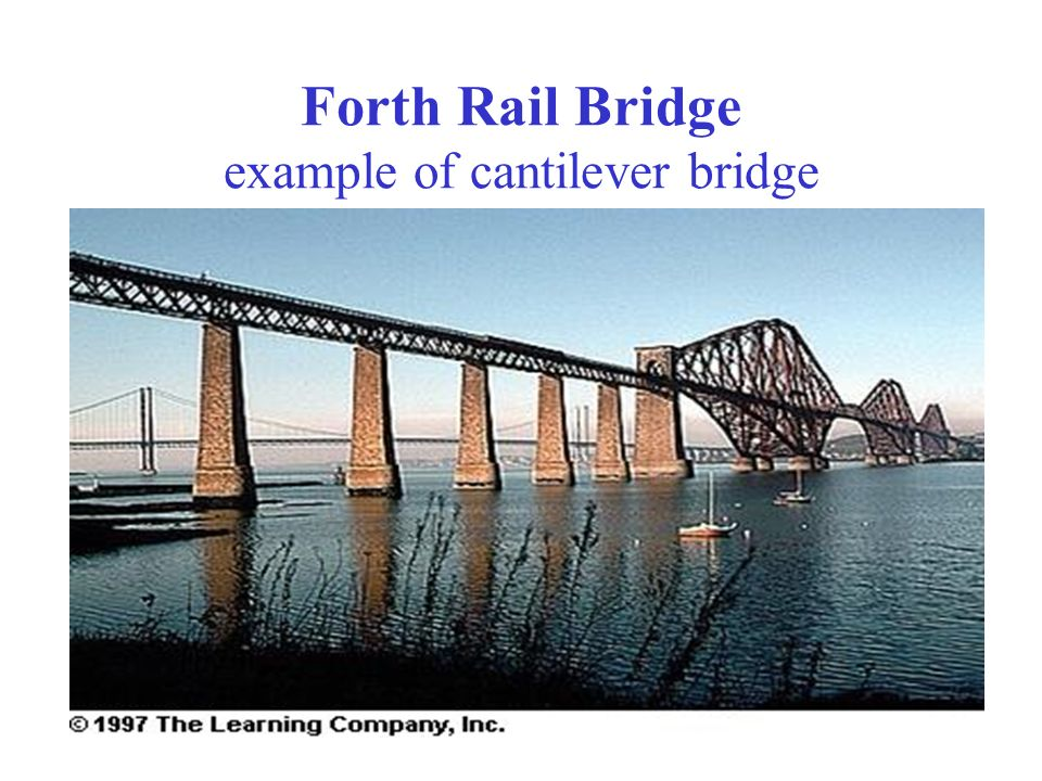 Forth Rail Bridge example of cantilever bridge
