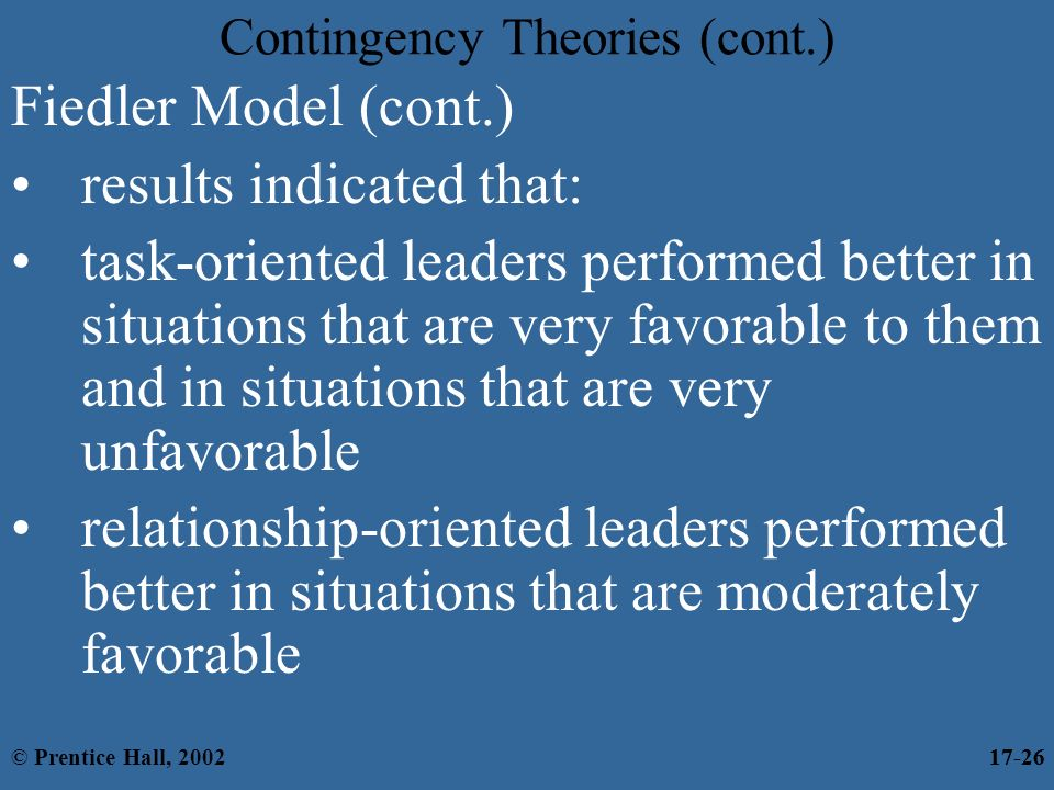 task oriented vs relationship oriented leader Task orientation vs relationship orientation home what you'll learn in task-oriented cultures appealing too frequently for assistance or guidance from leaders and co-workers is frowned upon and may signal weakness or indecisiveness.