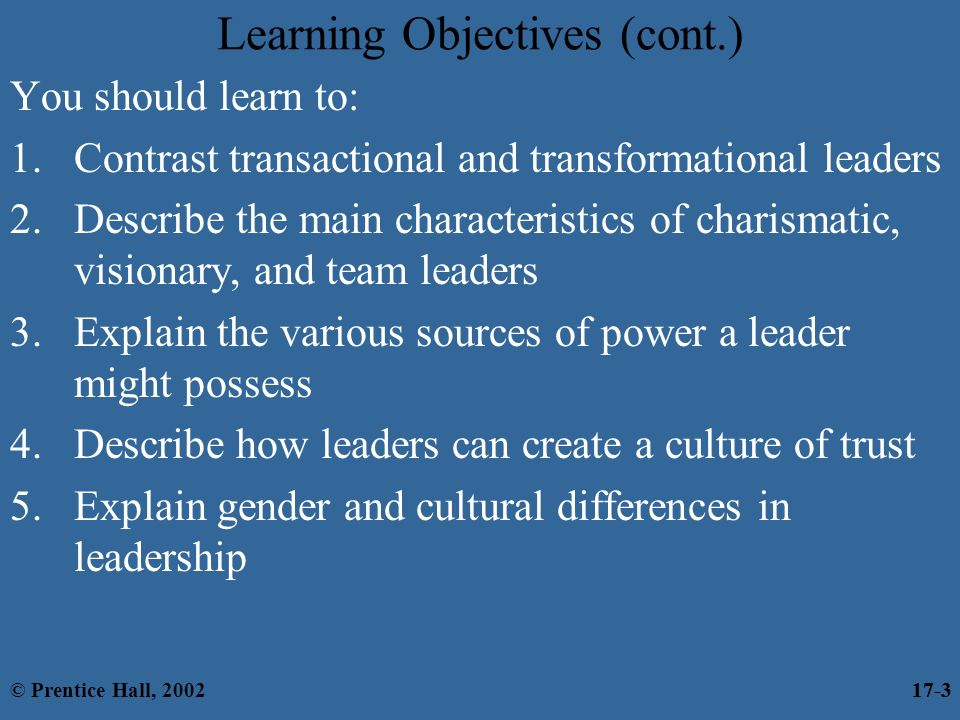 understanding the difference between the leadership styles transformational and transactional leader Transactional leadership differences between charismatic vs transactional leadership what leaders that use the charismatic style of leadership are.