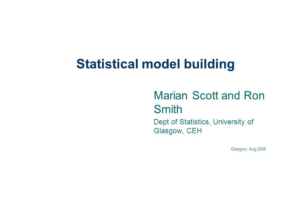 Statistical model building