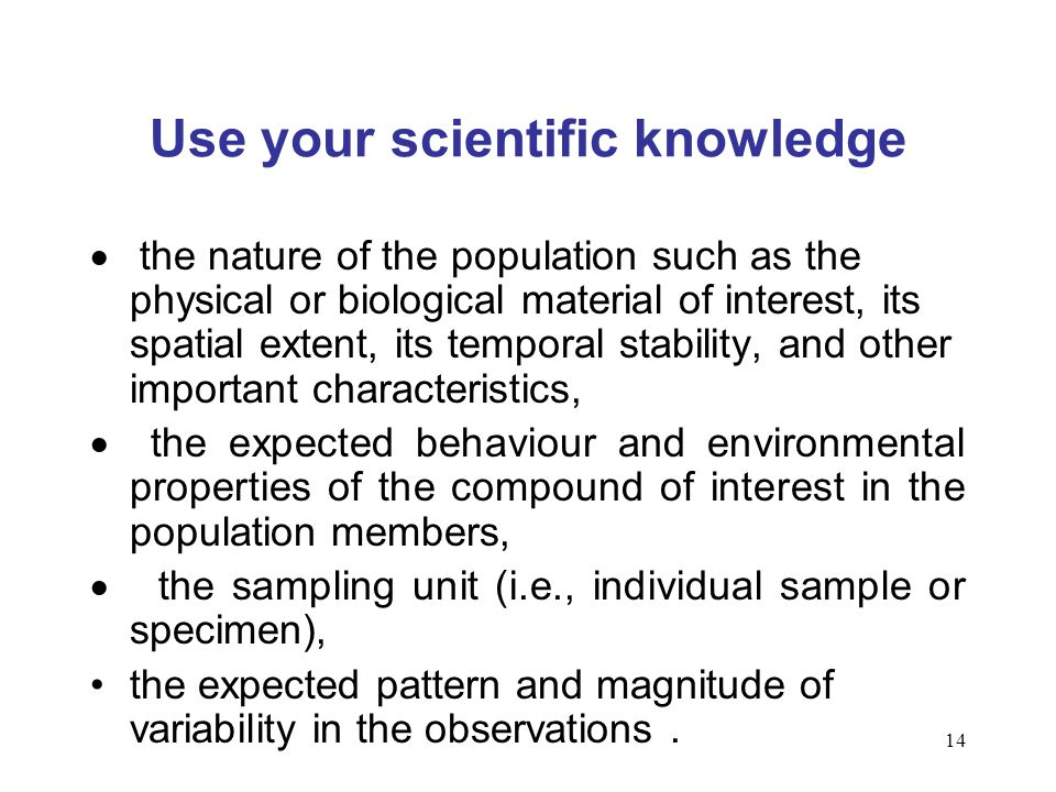 Use your scientific knowledge