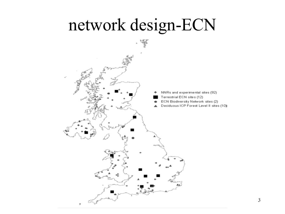 network design-ECN Why were these locations selected- are they representative