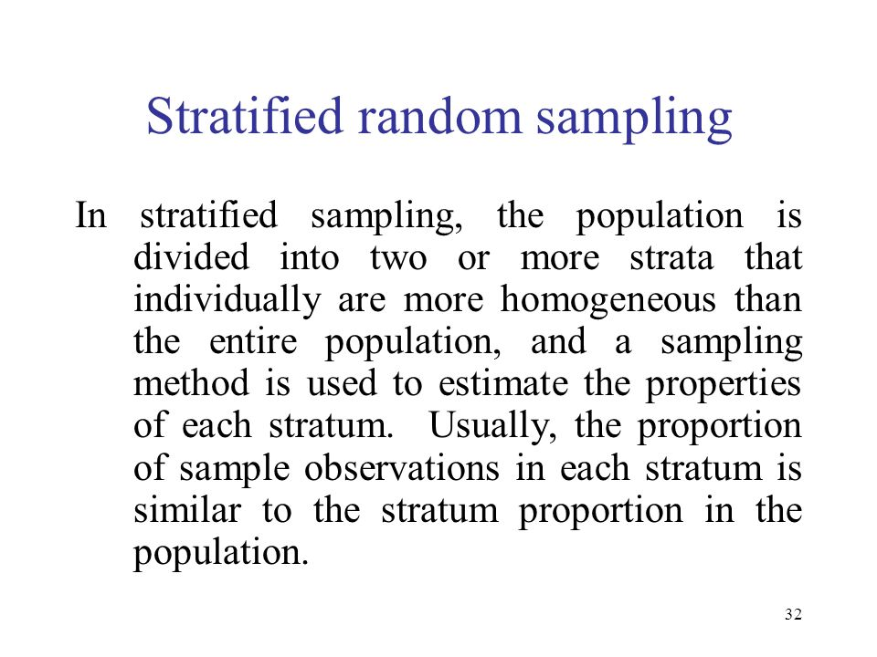 Stratified random sampling