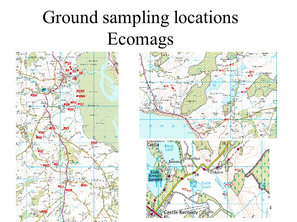 Ground sampling locations Ecomags