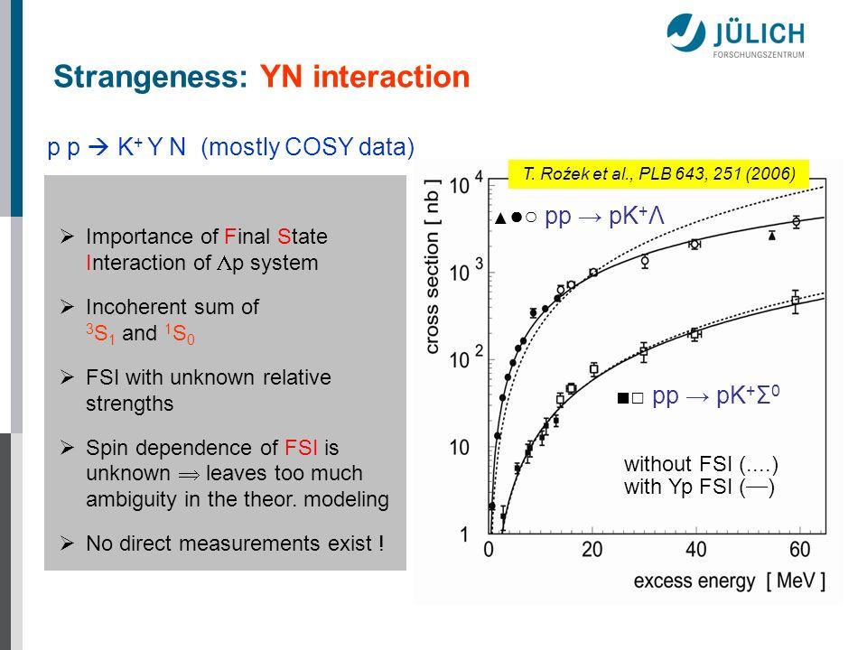 Strangeness: YN interaction