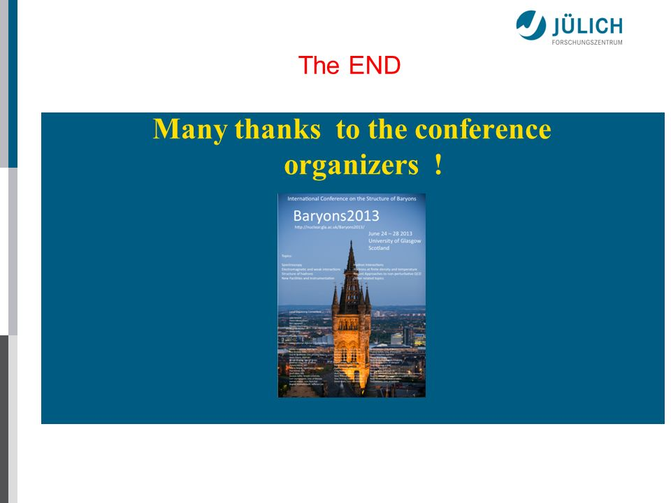 Many thanks to the conference organizers !