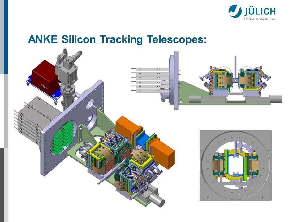 ANKE Silicon Tracking Telescopes:
