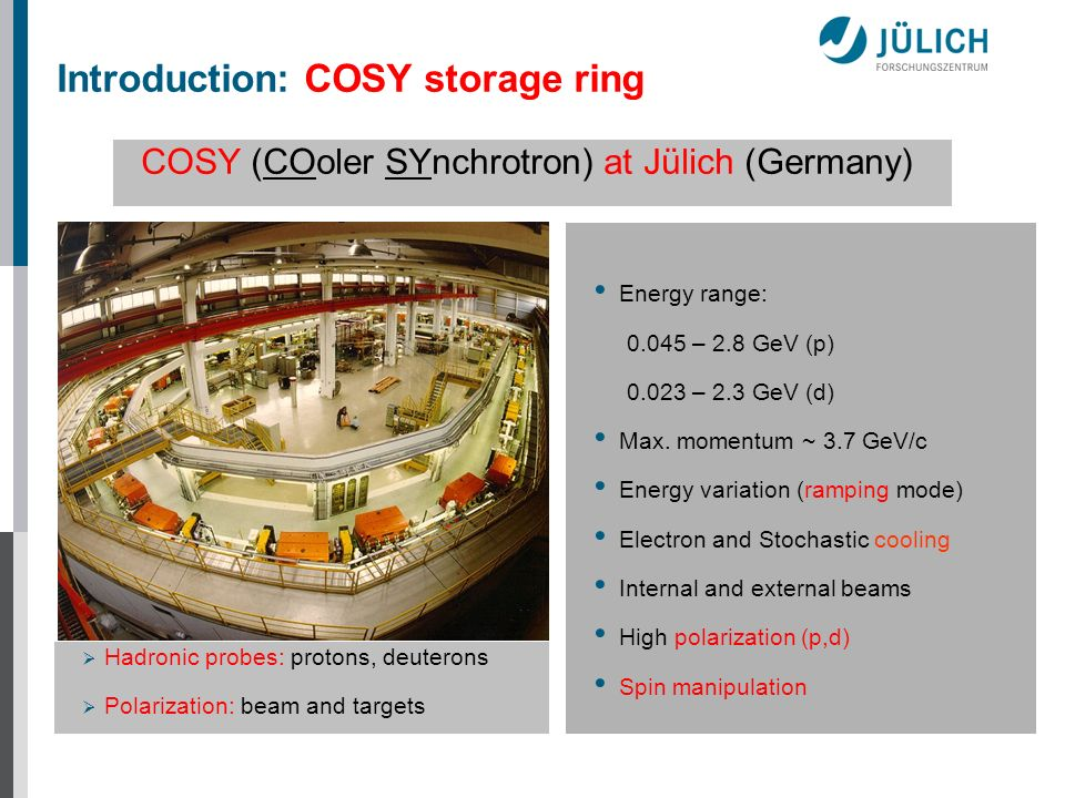 Introduction: COSY storage ring