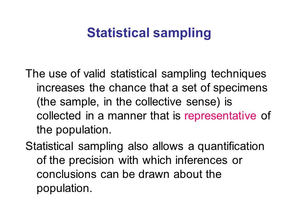 Statistical sampling
