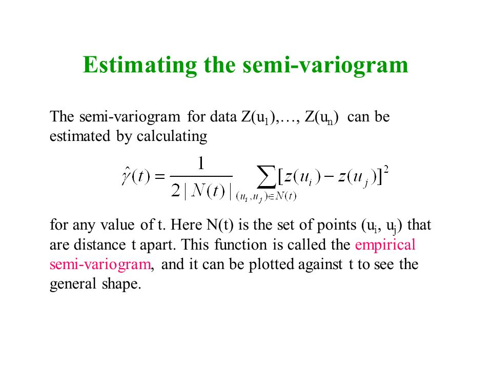 Estimating the semi-variogram