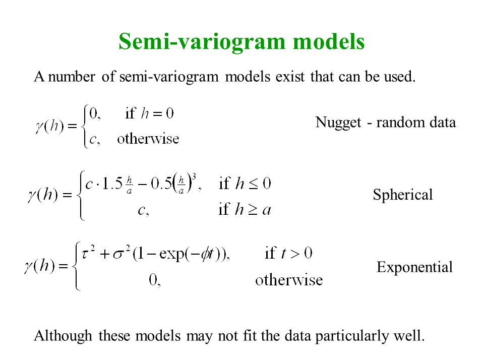 Semi-variogram models