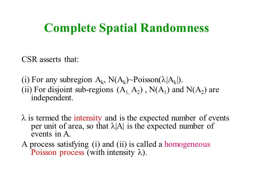 Complete Spatial Randomness
