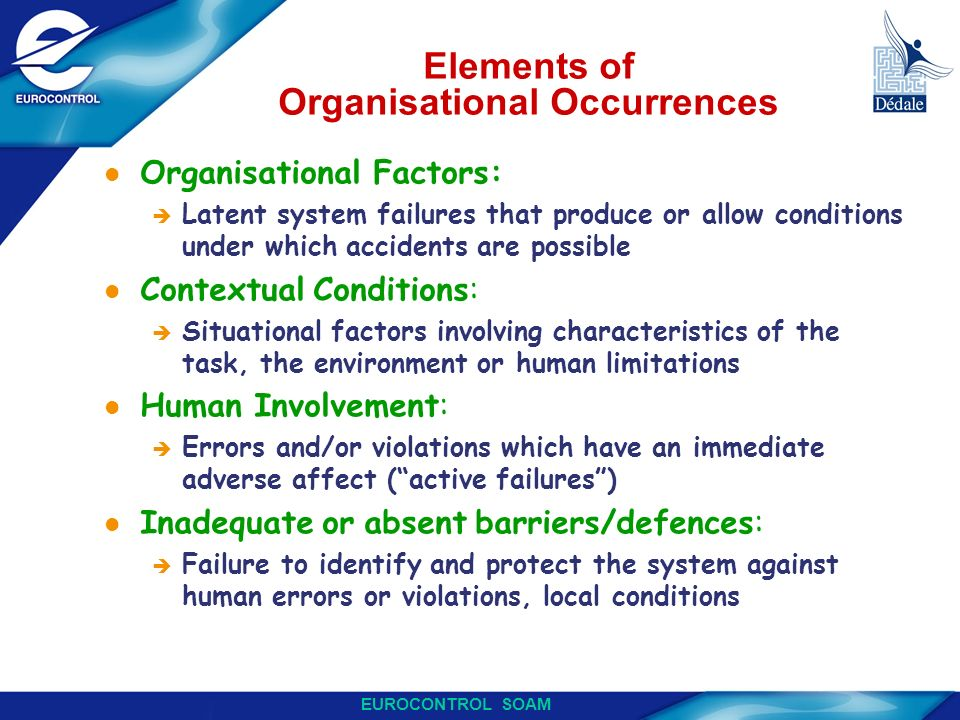 Elements of Organisational Occurrences