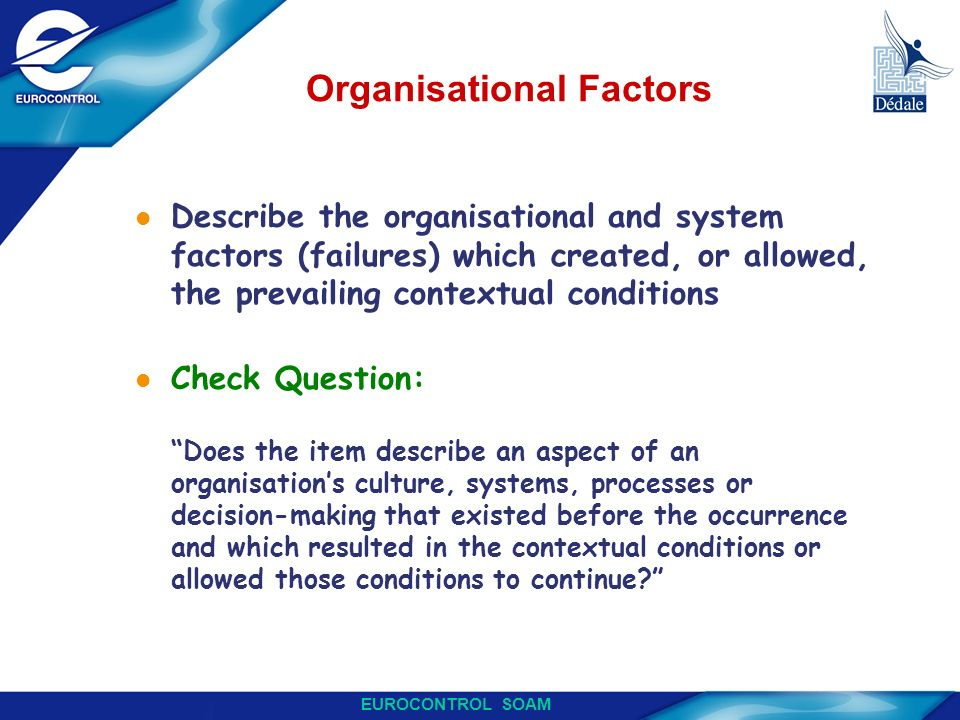 Organisational Factors