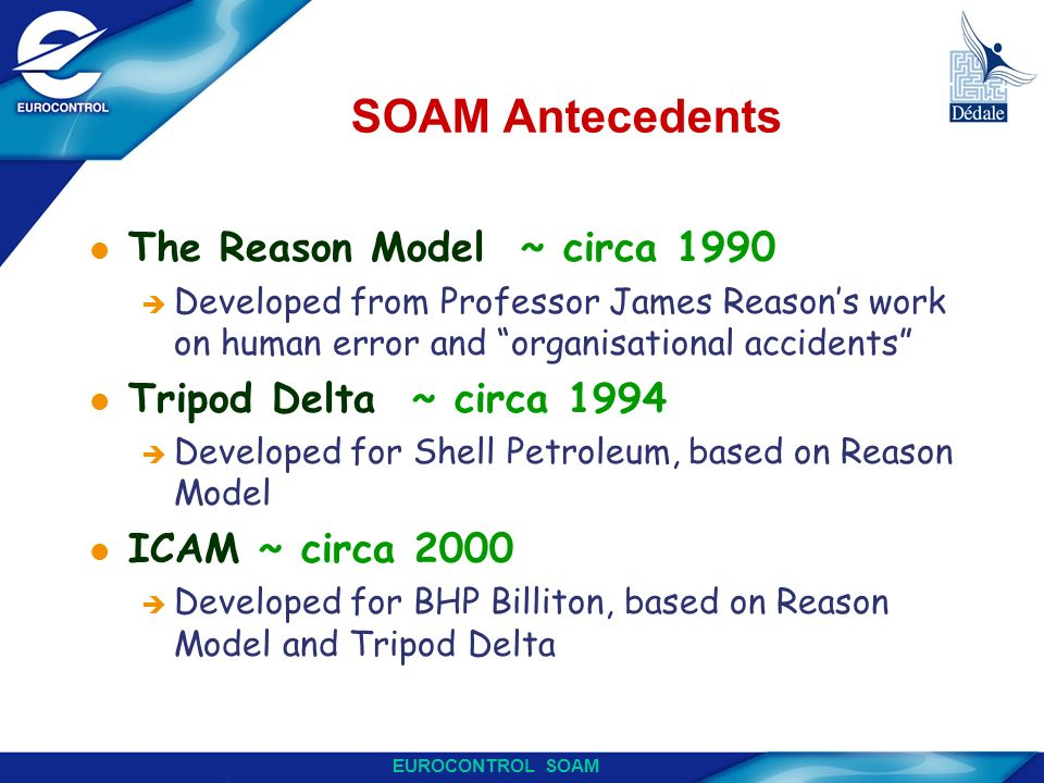 SOAM Antecedents The Reason Model ~ circa 1990