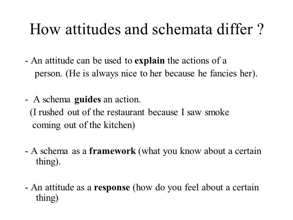 How attitudes and schemata differ