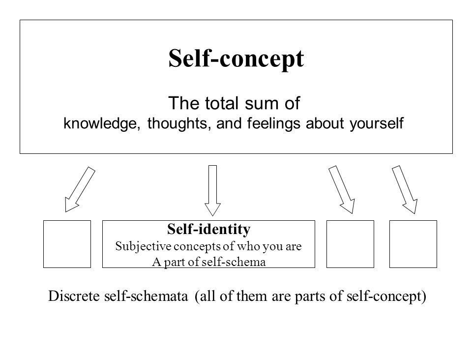Self-concept The total sum of