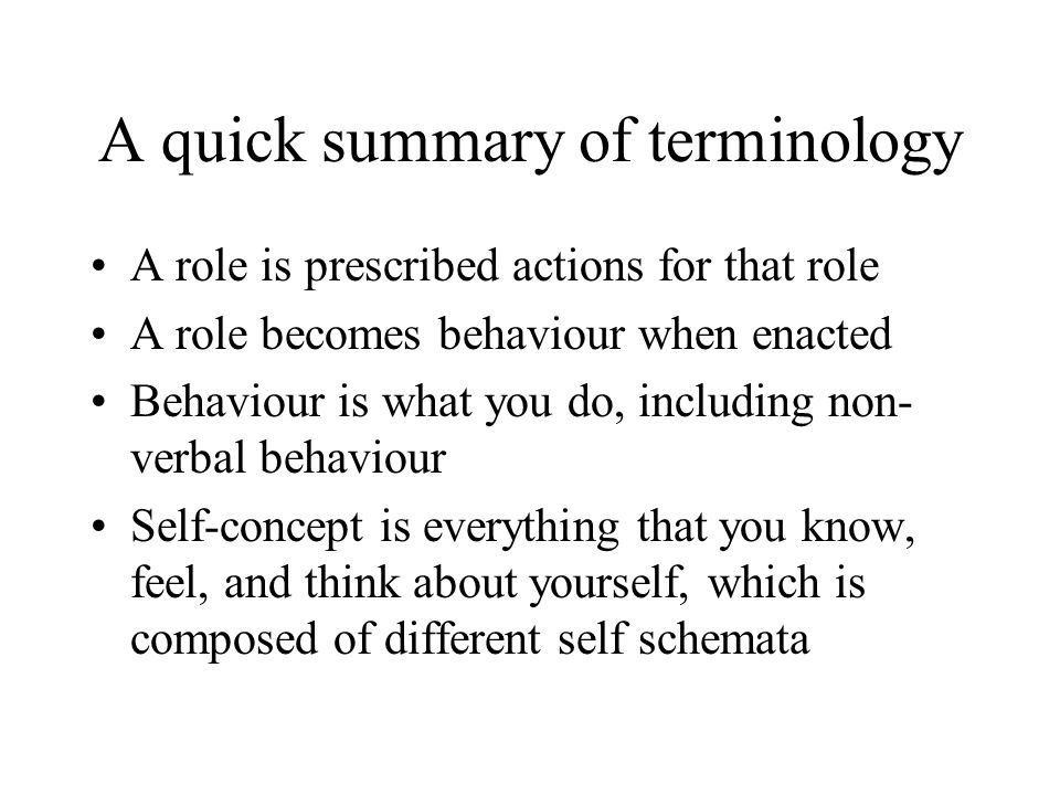 A quick summary of terminology
