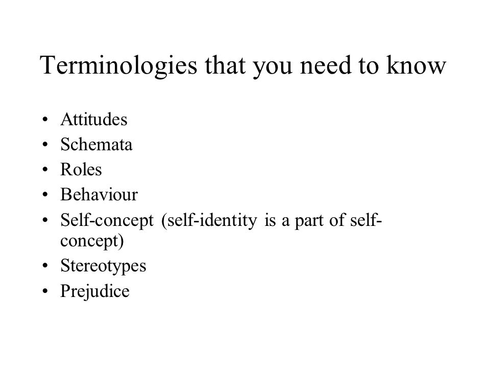 Terminologies that you need to know