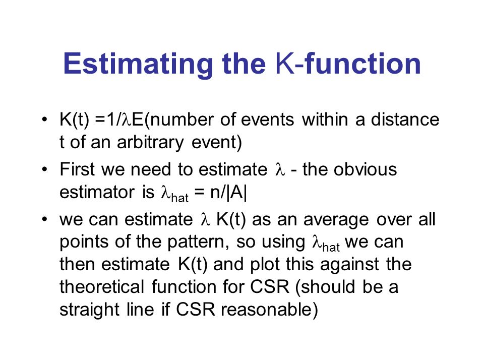Estimating the K-function