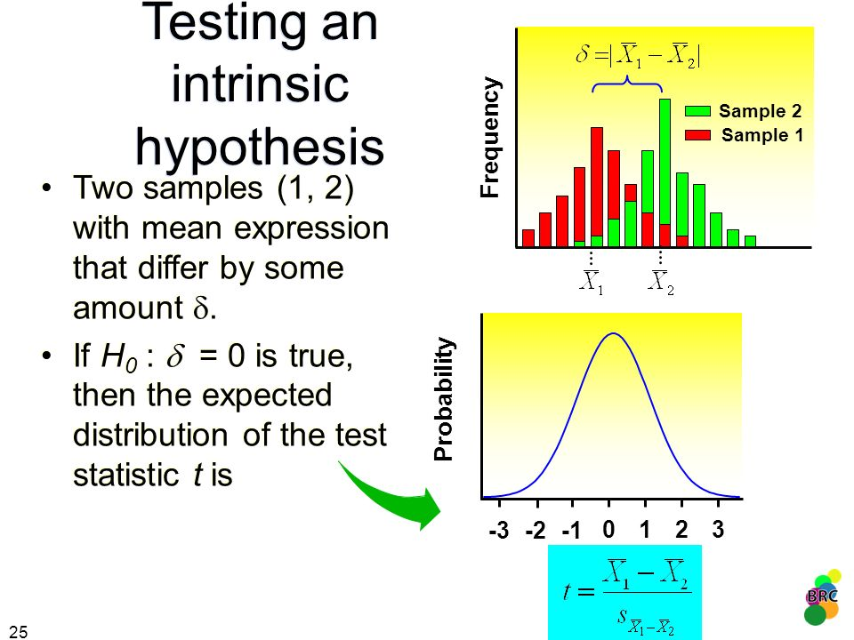 Testing an intrinsic hypothesis
