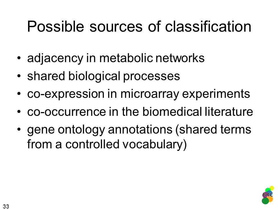 Possible sources of classification