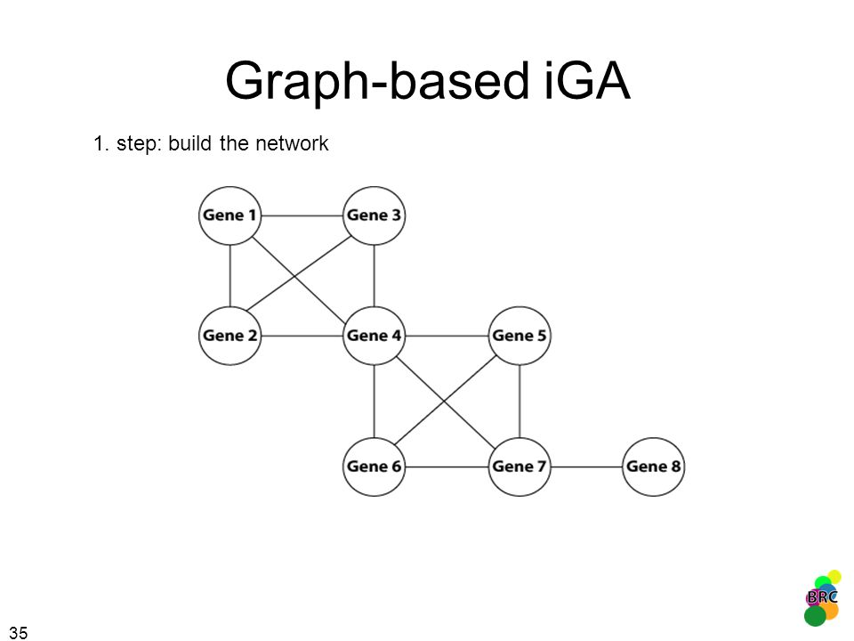 Graph-based iGA 1. step: build the network