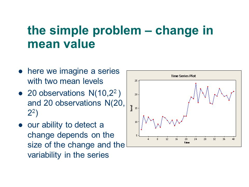 the simple problem – change in mean value