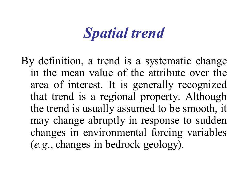 Spatial trend