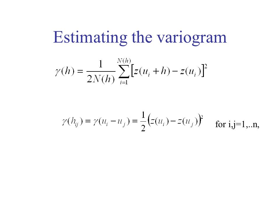 Estimating the variogram