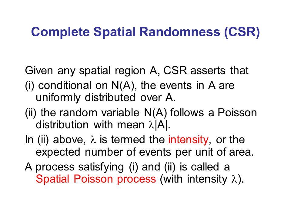 Complete Spatial Randomness (CSR)