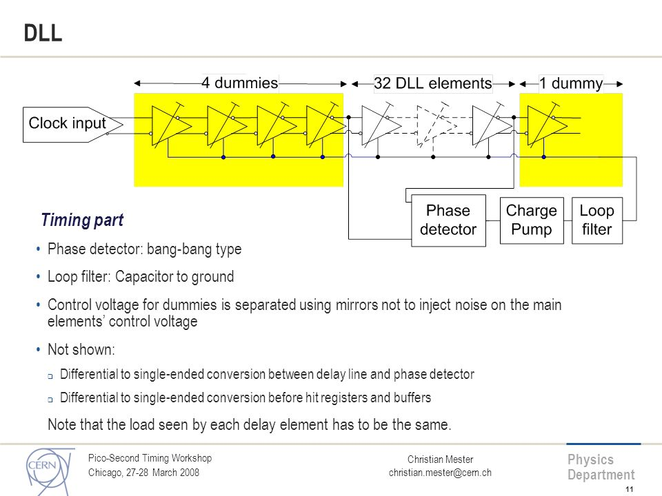 DLL Timing part Phase detector: bang-bang type